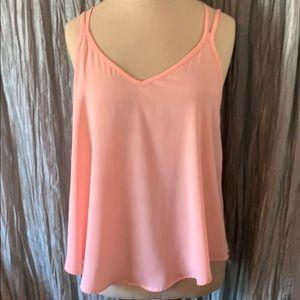 ASTR Light Pink Summer Dress Tank Blouse